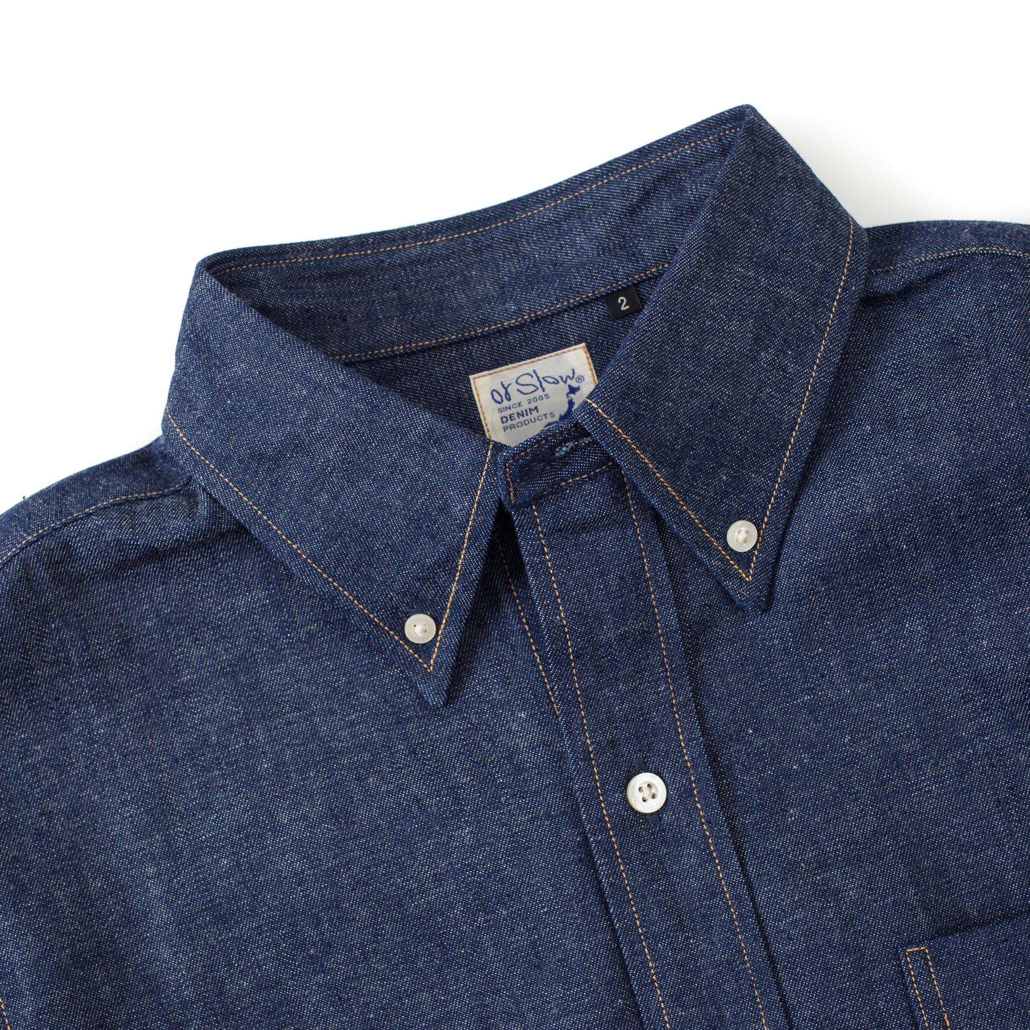 Button Down Shirt (Rigid Denim)