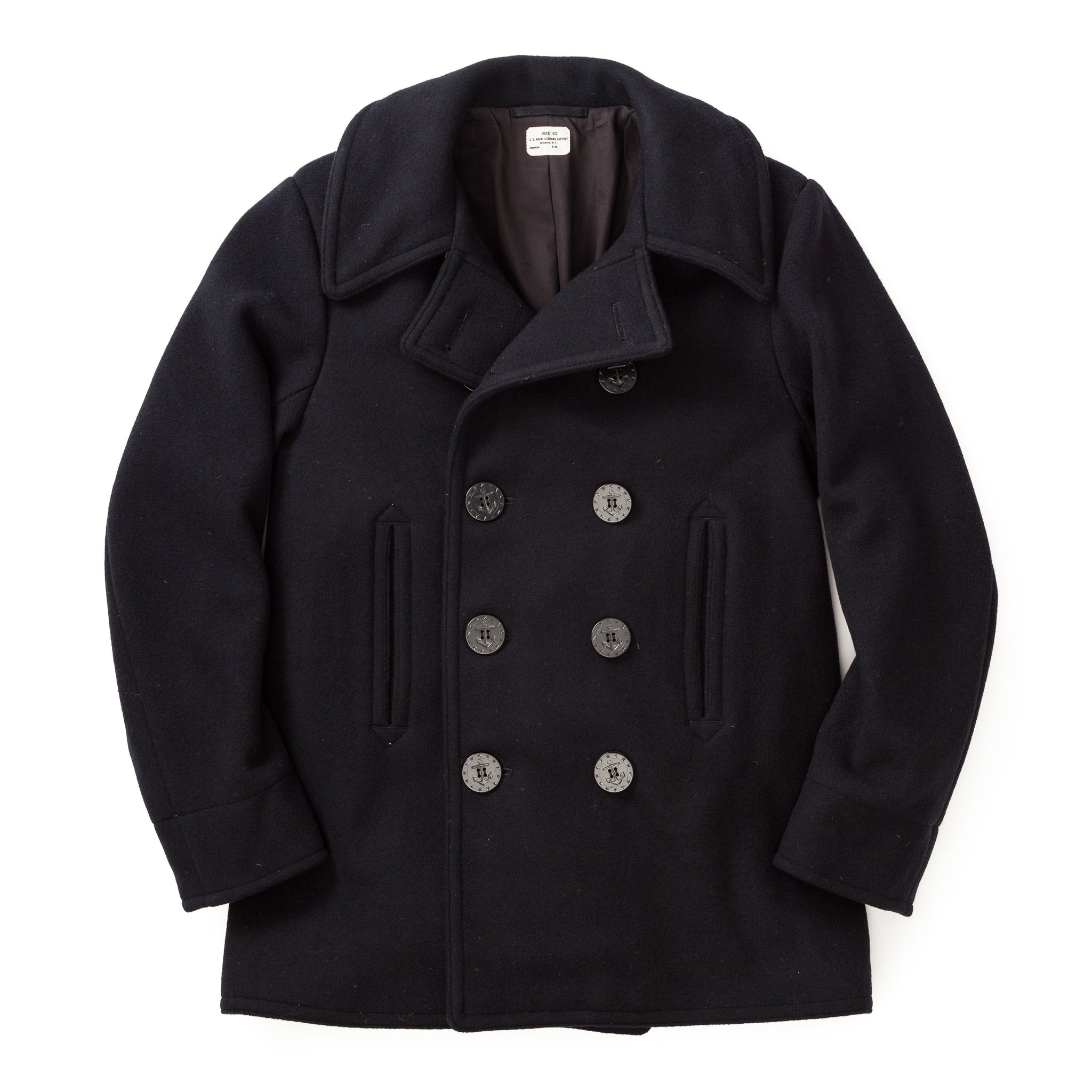 The Real McCoy's WWII U.S. Navy Pea Coat MJ18131