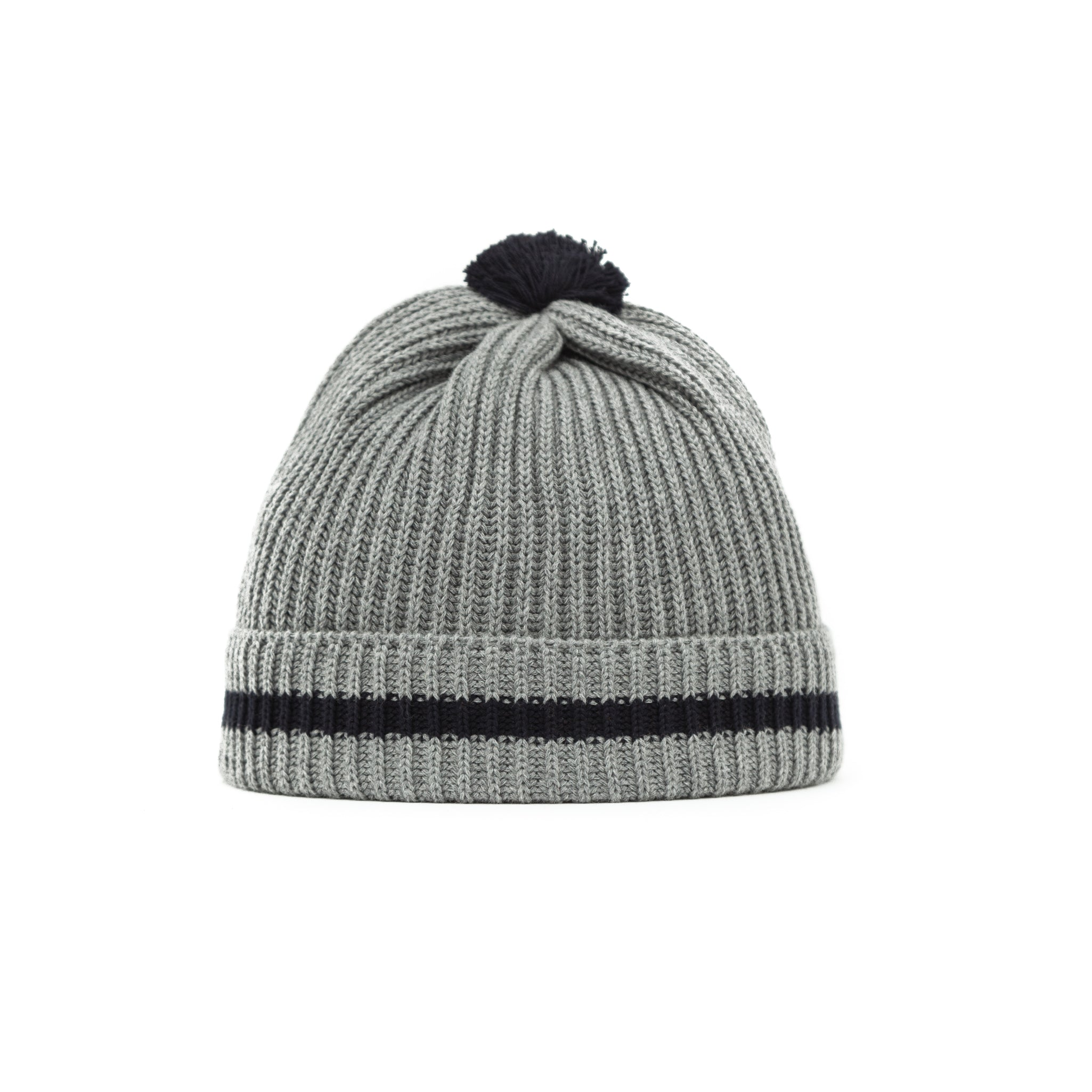 Cotton Knit Bobble Cap