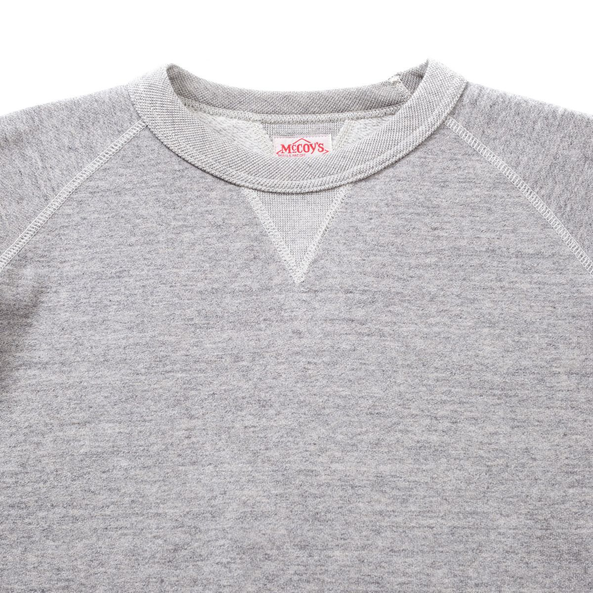 THE REAL MCCOY'S JOE MCCOY 10OZ SWEATSHIRT GREY