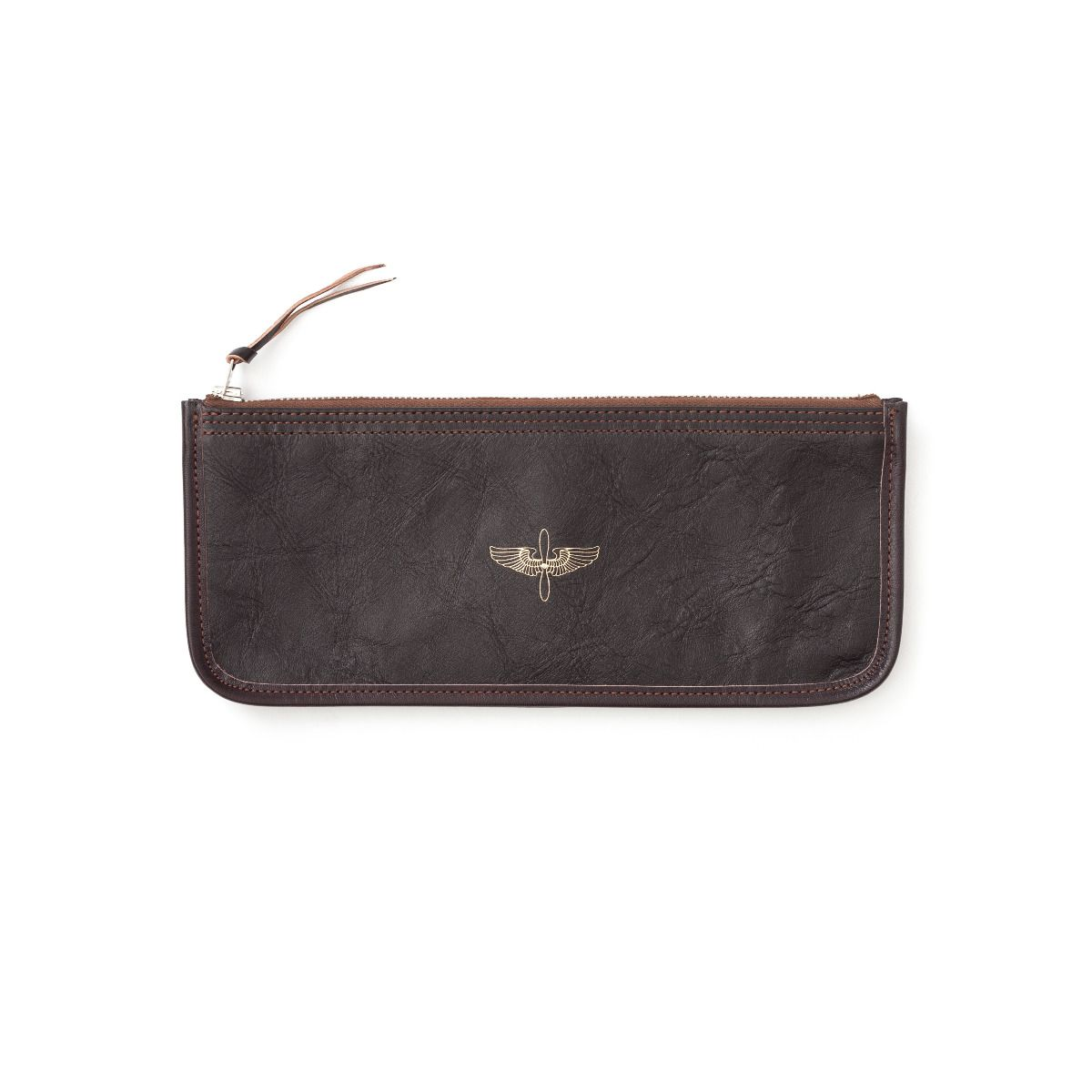 The Real McCoy's Horsehide Large Zipper Wallet