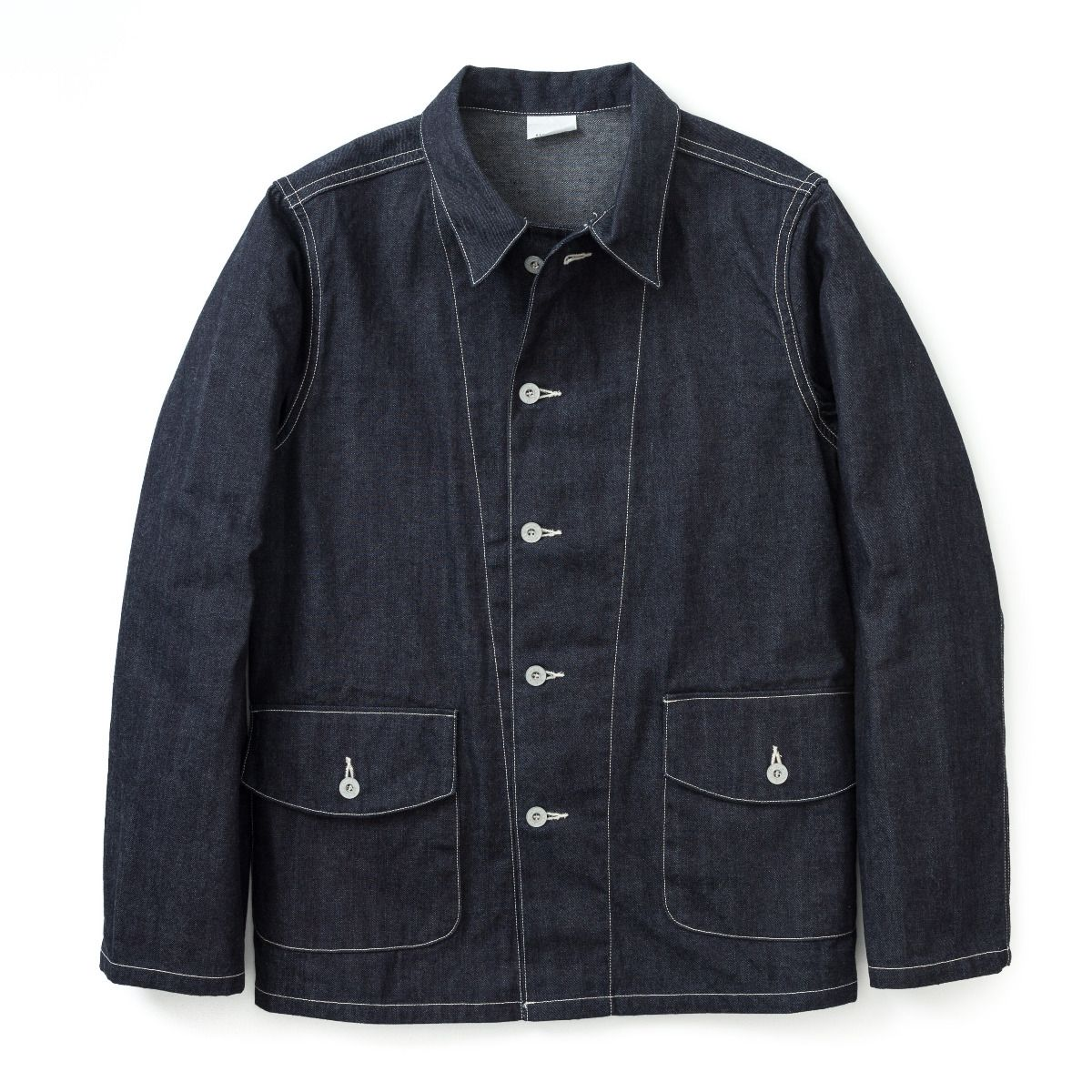 Coat, Work, Blue Denim