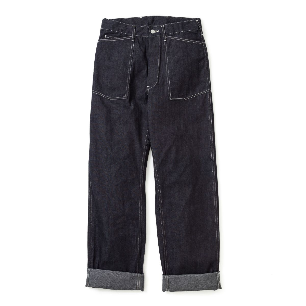 Work Blue Denim Trousers