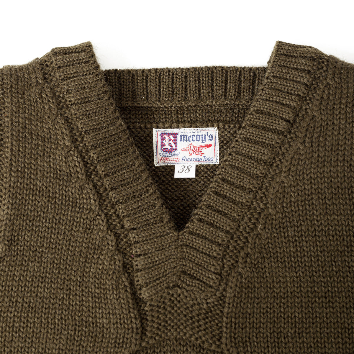 The Real McCoy's Sleeveless Wool Sweater