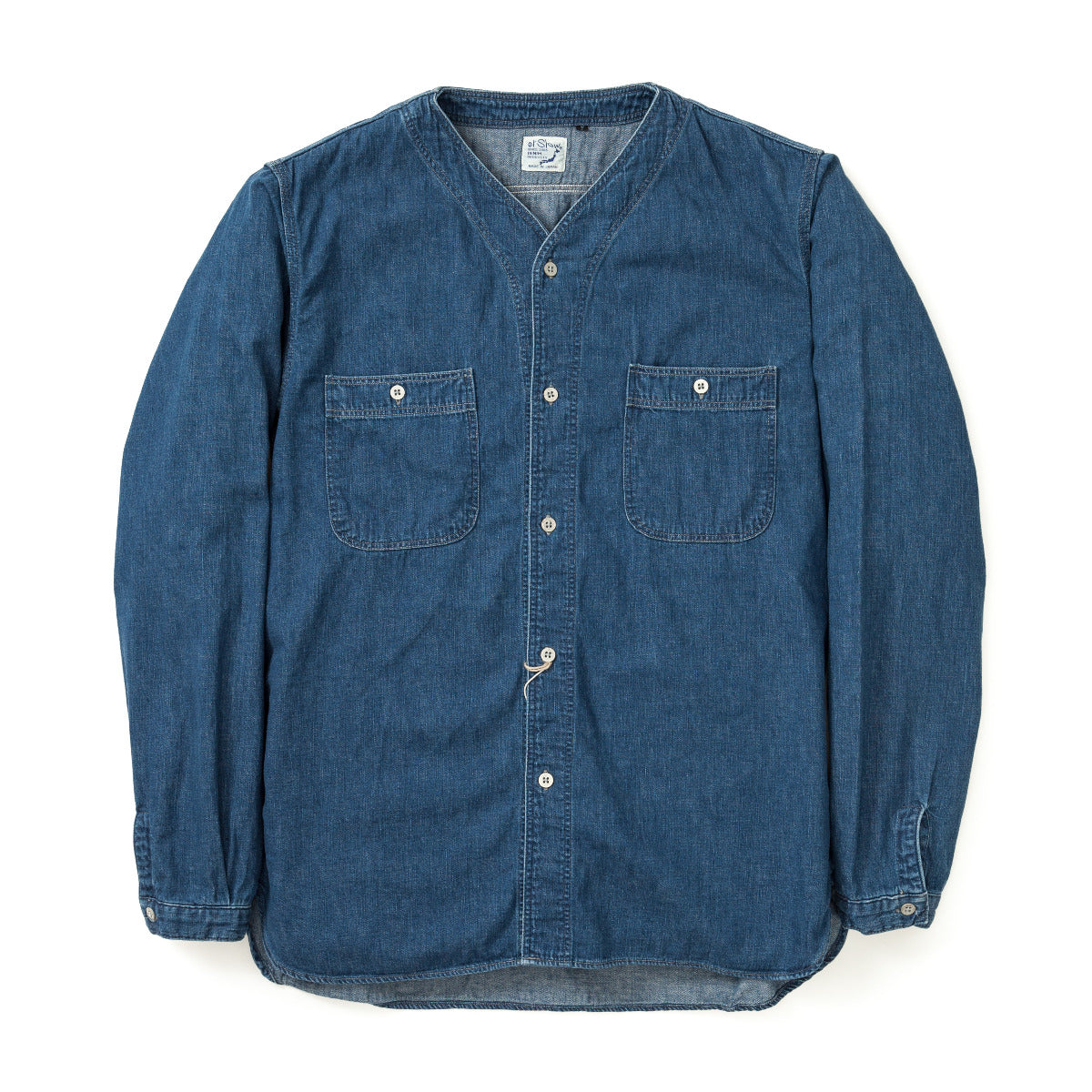 No Collar 6oz Denim Shirt