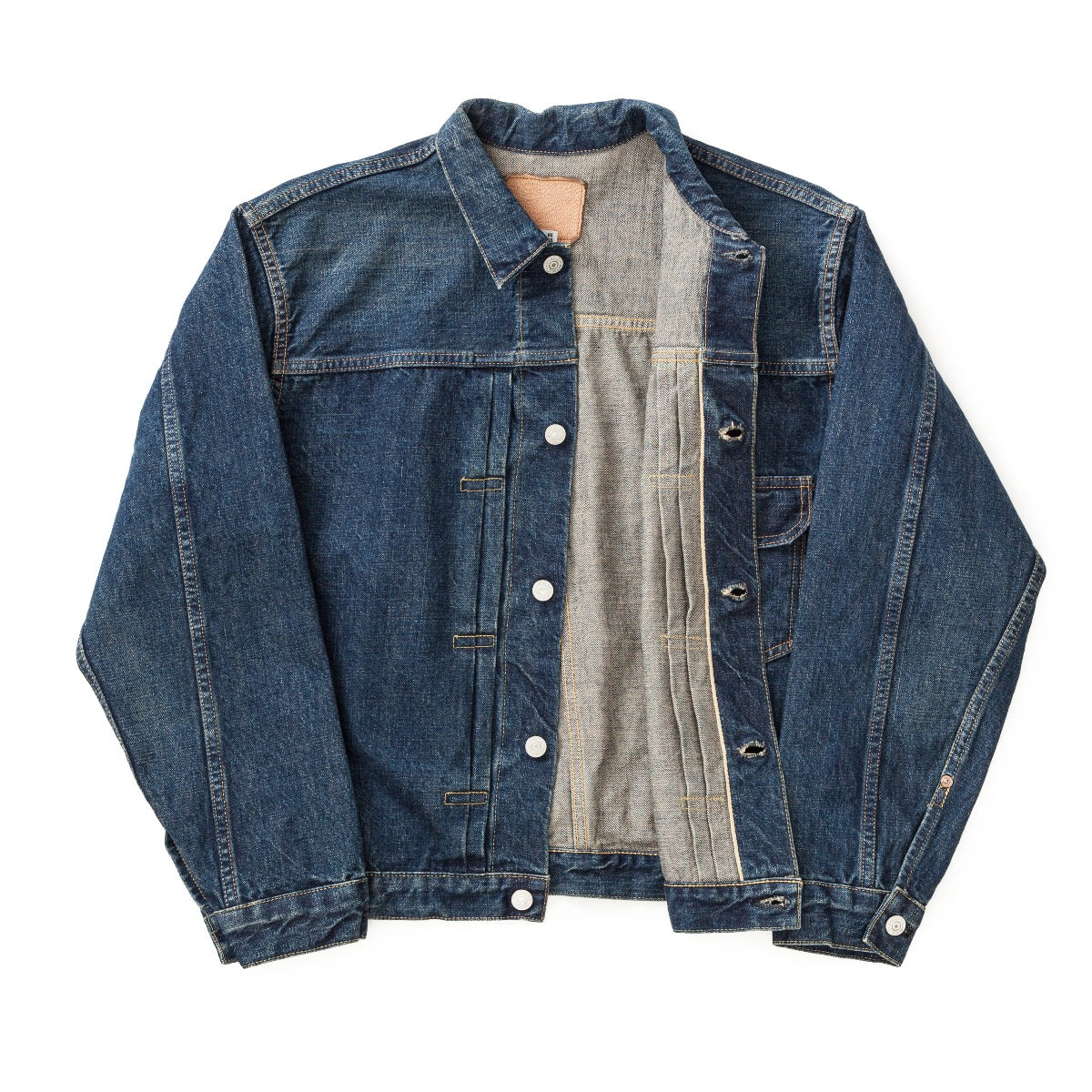 Pleated Front Blouse Denim Jacket One Year Wash