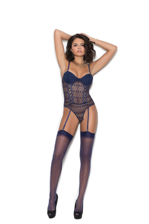 Elegant Moments Lingerie - Crochet Teddy