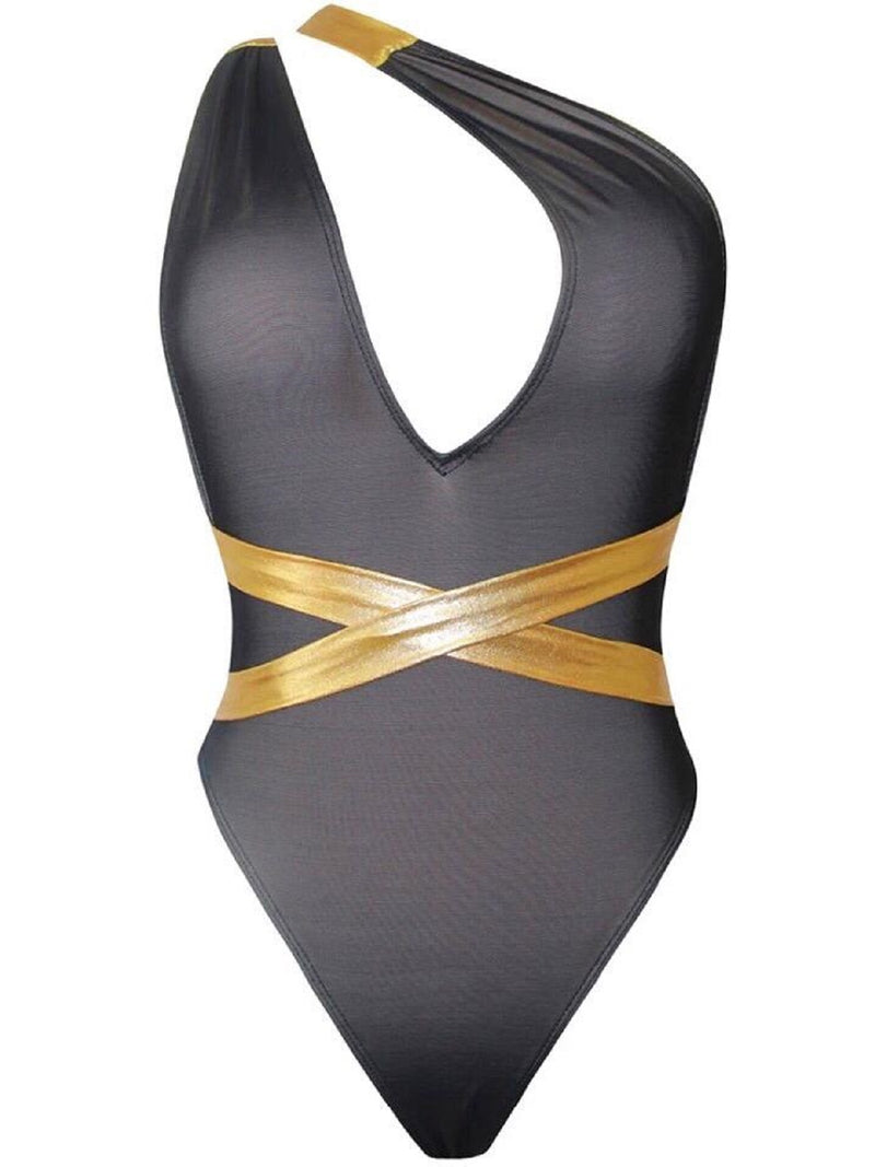 MULTIWAY BLACK/GOLD SWIMSUIT