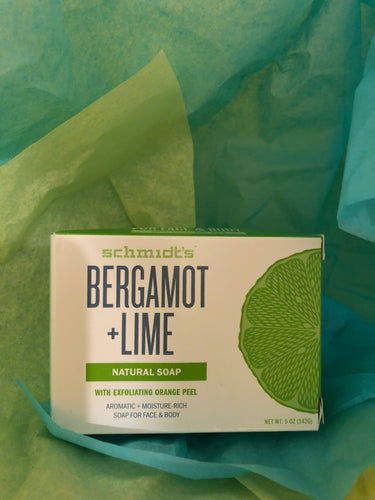 Schimdts Bergamot and Lime Soap
