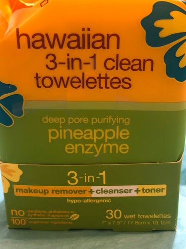 Hawaiian make up wipes