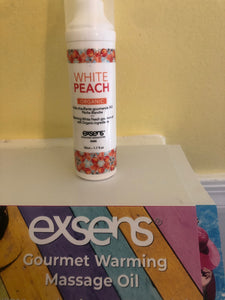Exsens White Peach Gourmet Oil for Intimacy