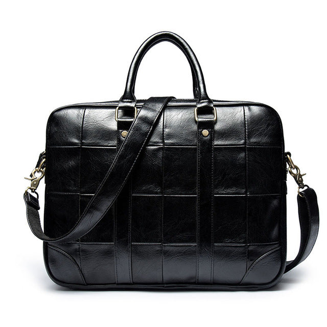 Men's Leather Office Shoulder Bag