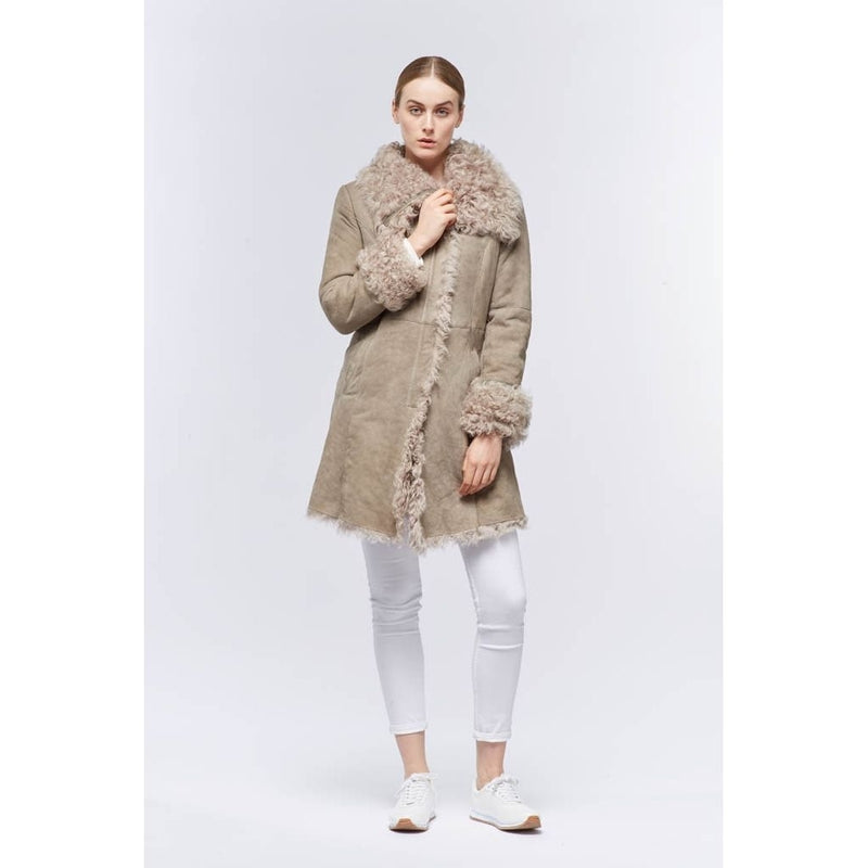 NC Fashion Amalie Coats Råhvid