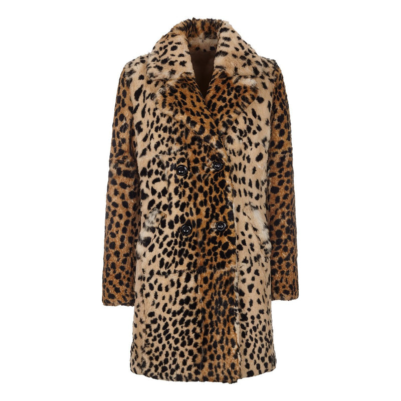 NC Fashion Chrystal Coats Leopard mønster