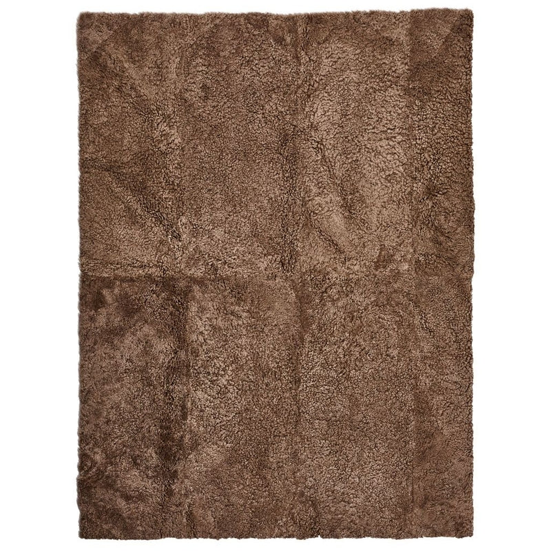 NC Living New Zealand Design Rug - ShortWool Curly | 250x350 cm. Design Rugs Taupe