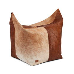 NC Living Pouf of Premium Quality Calf Leather, Size 120X60X80 CM | Large Poufs Brun