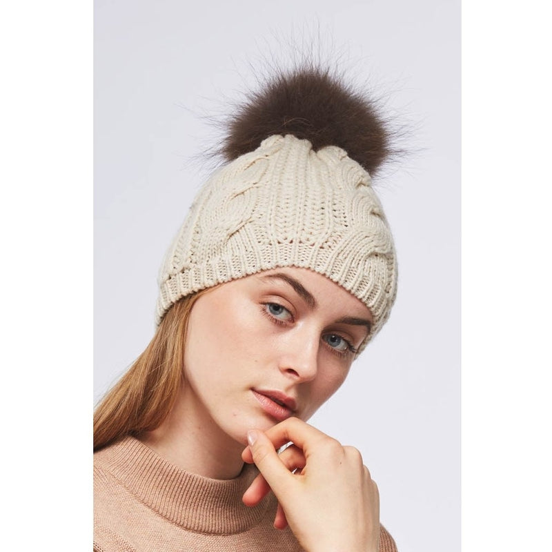 NC Fashion Stine Beanies Beige/brun