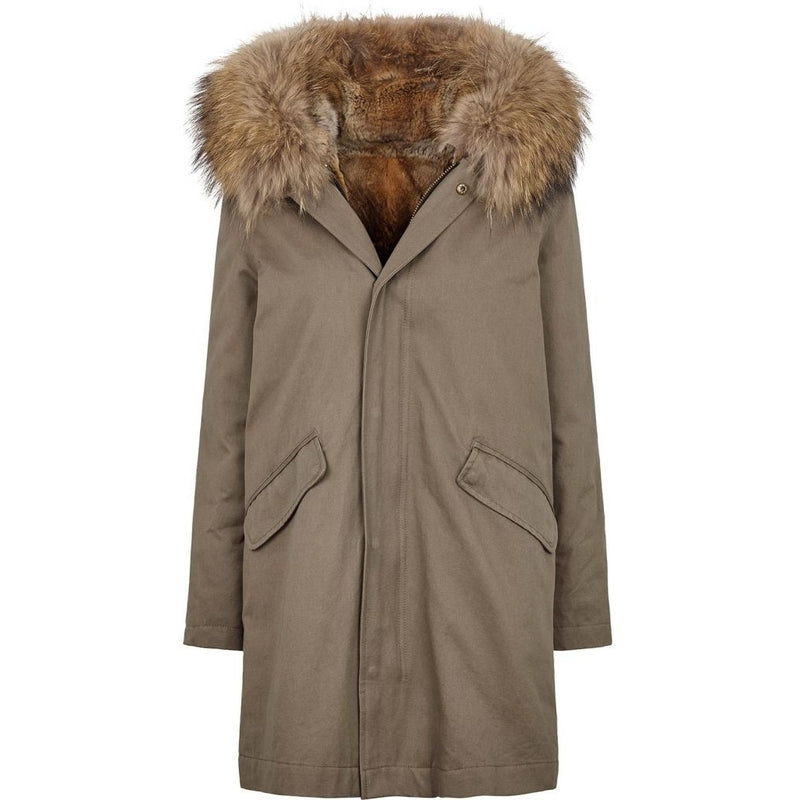NC Fashion Charlie Coats Taupe/naturbrun
