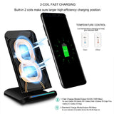 Fast Wireless Charger Cell Charging Pad Stand for Samsung & iPhone