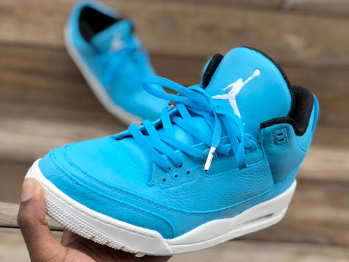 Custom retro Jordan Baby Blue 3s - Kiaun's Customs