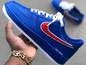 Custom Blue and Red Air Force 1s - Kiaun's Customs