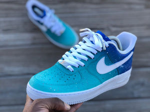 cheap for discount 4cec7 22113 Custom Turquoise Air Force 1