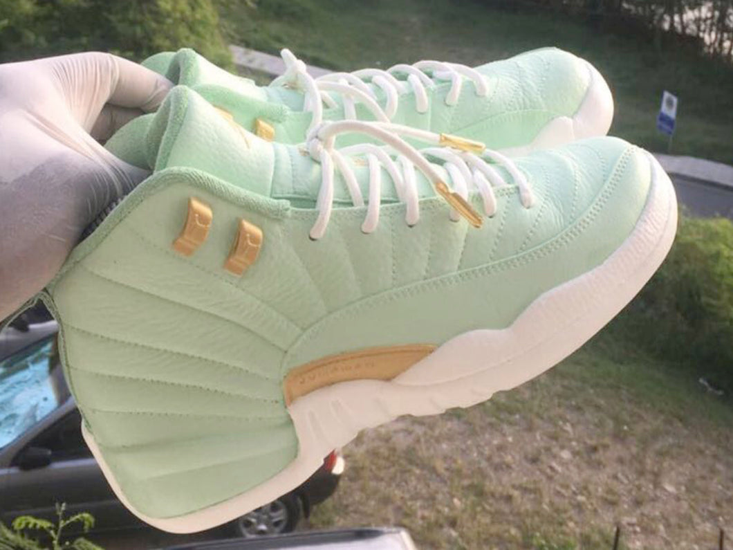Custom retro Jordan Green 12s - Kiaun's Customs