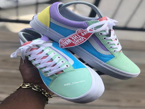 Custom Multi Colored Vans - Kiaun's Customs