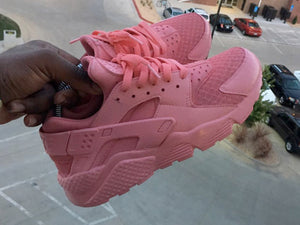 Custom Petal Pink Nike Huaraches - Kiaun's Customs