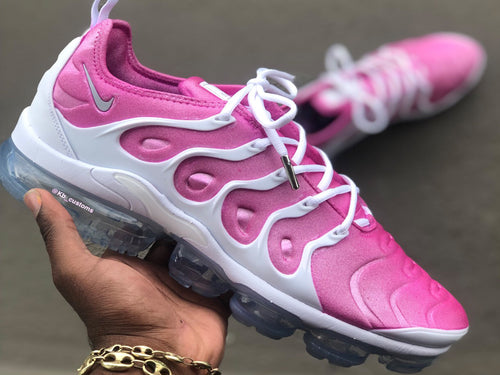 Custom Pink and White Nike Vapormax - Kiaun's Customs