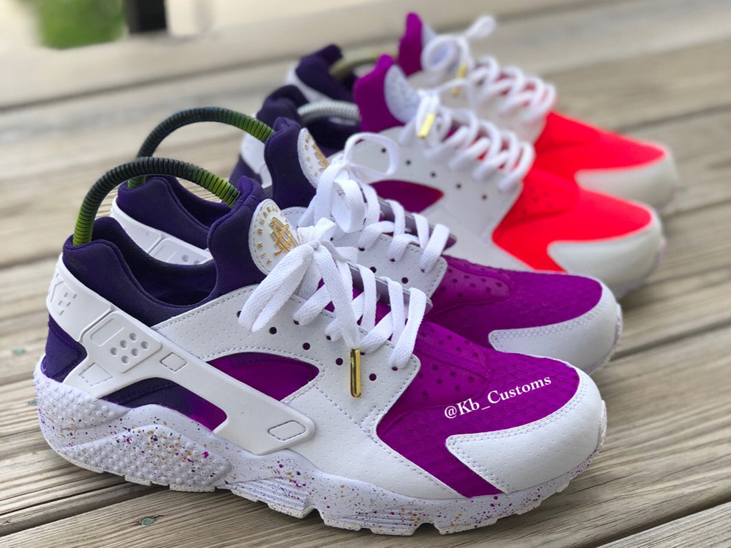 Custom Purple Reign Huaraches - Kiaun's Customs