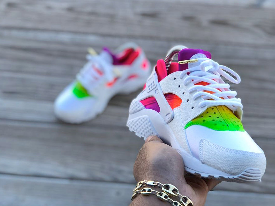 Custom Rainbow Nike Huaraches - Kiaun's Customs