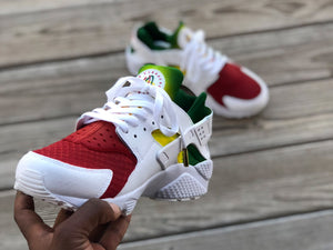 "Custom ""Rasta"" Huaraches - Kiaun's Customs"