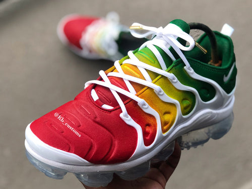 "Custom ""Rasta"" Nike Vapormax - Kiaun's Customs"