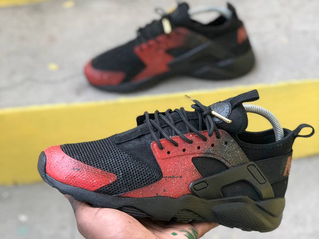 Custom Red Galaxy Nike Huaraches - Kiaun's Customs