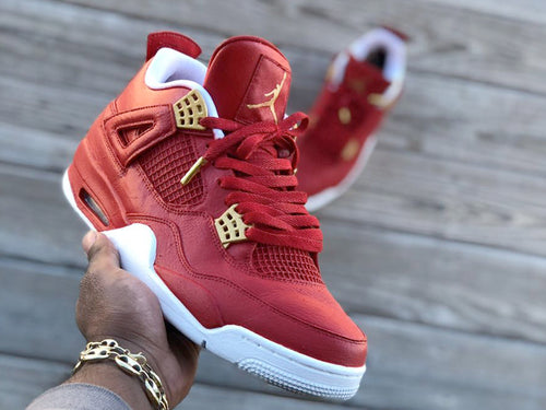 Custom retro Jordan Red and White  4s - Kiaun's Customs
