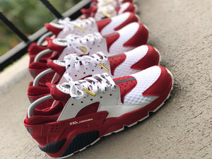 Custom Red and White Nike Huaraches