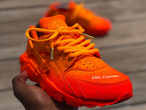 Custom Sunset Orange Nike Huaraches - Kiaun's Customs