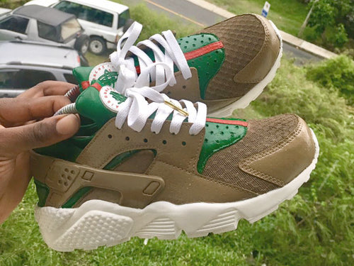 Custom Tan Gucci Nike Huaraches - Kiaun's Customs