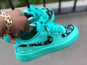 Custom Tiffany blue lv Air Force 1 - Kiaun's Customs