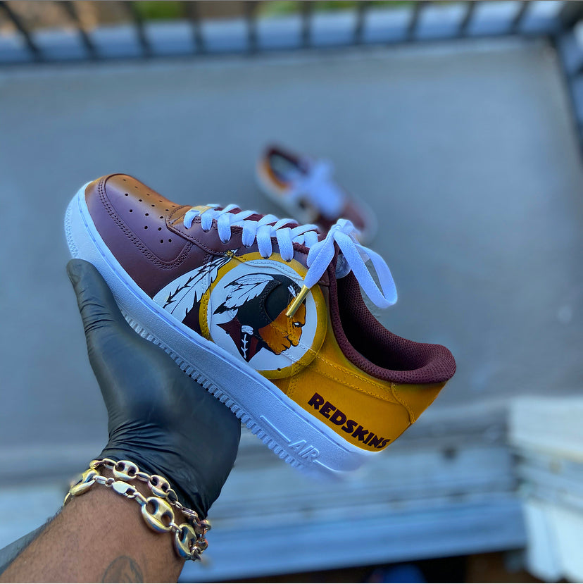 Custom Washington Redskins themed AF1 - Kiaun's Customs
