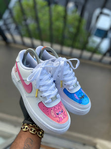 Custom lilo & stitch themed Af1s - Kiaun's Customs
