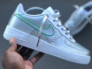 Custom Metallic Silver Air Force 1 - Kiaun's Customs