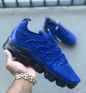 Custom Blue and Black Nike Vapormax - Kiaun's Customs