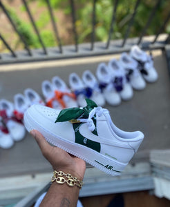 Custom Green Bandana Air Force 1s. - Kiaun's Customs