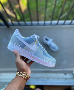 Custom Denim Air Force 1s - Kiaun's Customs