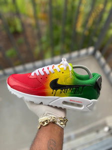 "Custom ""Rasta"" Airmax 90 - Kiaun's Customs"