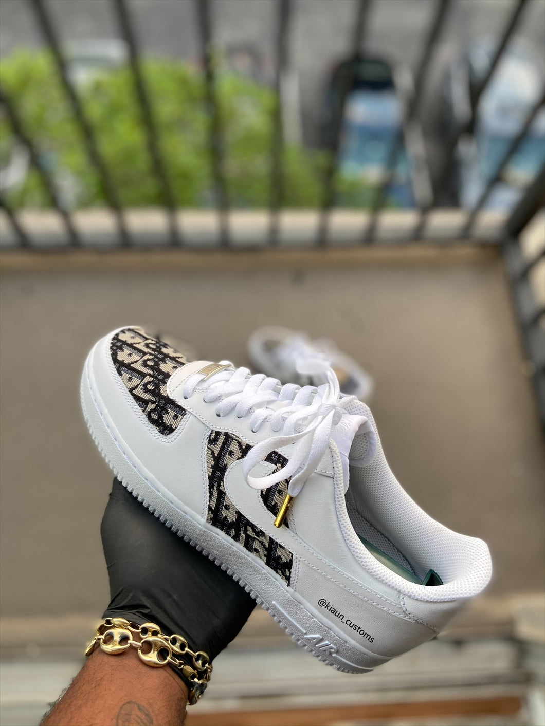 Custom Black Dior Af1s - Kiaun's Customs