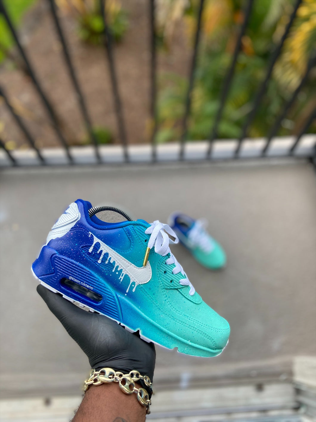 Custom Turquoise Airmax 90 - Kiaun's Customs