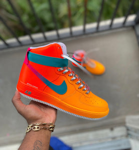 Custom Hightop sunset Af1s - Kiaun's Customs